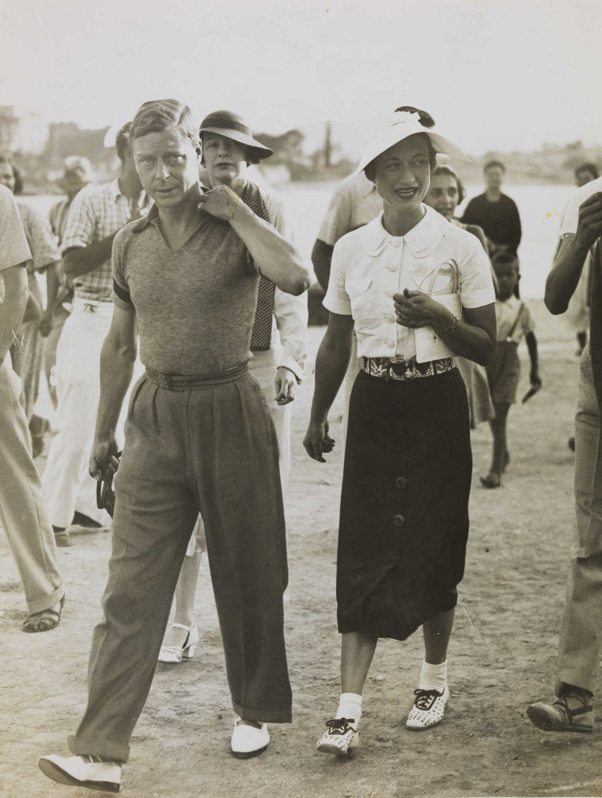 King Edward VIII and Mrs. Wallis Simpson on holiday in Yugoslavia, August 1936.